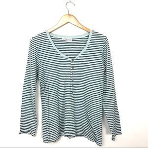 Habitat Clothes to Live In Blue Striped Top S C0